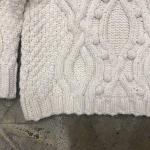 Zara Sweaters - Zara Knit Sweater Cable Knit Pom Pom Cream S